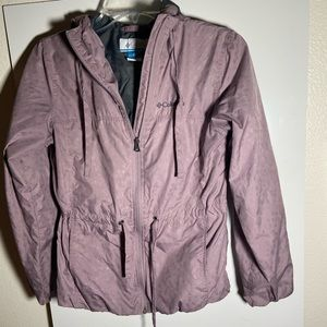 Columbia Draw String Waist Womens Rain Coat Sz XS